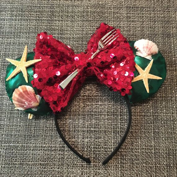 Ariel Disney Ears by ChumpzillaCrafts on Etsy