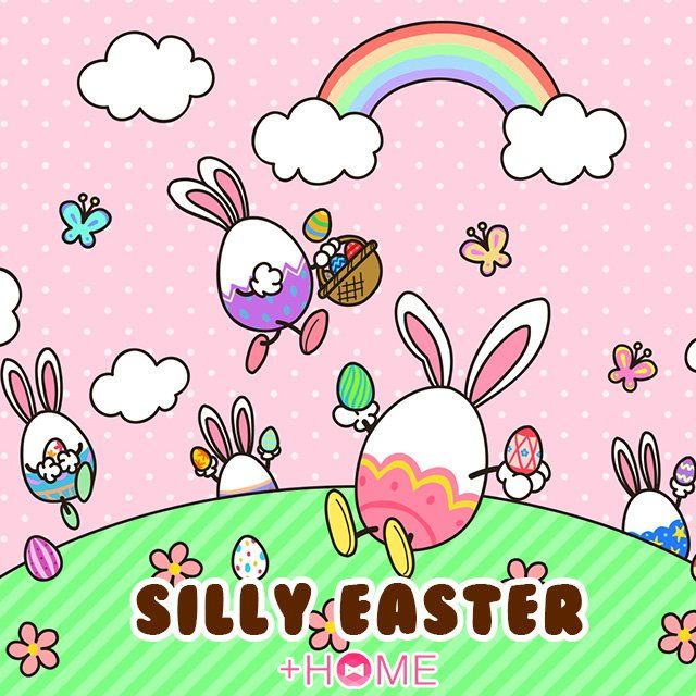 """Silly Easter""   Celebrate Easter in style with this light-hearted theme!  Download Now:http://bit.ly/2ovNL38  #cute #wallpaper #kawaii #icon #plushome #homescreen #widget #deco"