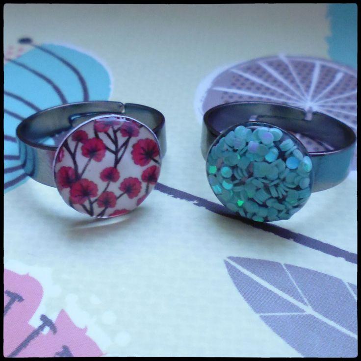 prstýnky v barvě gunmetal, 12 mm