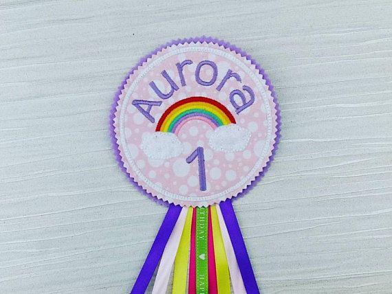 Rainbow Badge - Rainbow Birthday - Personalised Badge - Rainbow Party Gift Celebration - Unicorn Badge - Gift for Her - Mum Mom Auntie