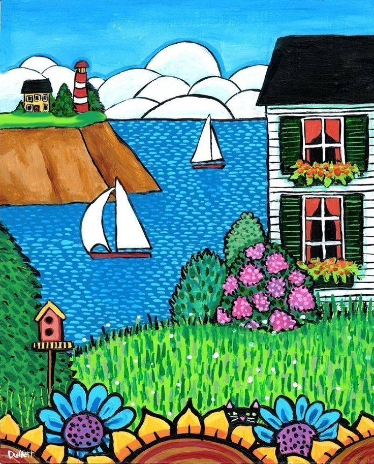 White House Lighthouse, Nova Scotia Print. $20.00, via Etsy. - use this style to make painting of Memere Robichaud's house