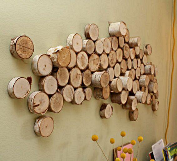 log artWood Art, Trees Trunks, Wall Decor, Wood Slices, Diy Wall Art, Wooden Wall, Christmas Trees, Trees Stumps, Wood Wall