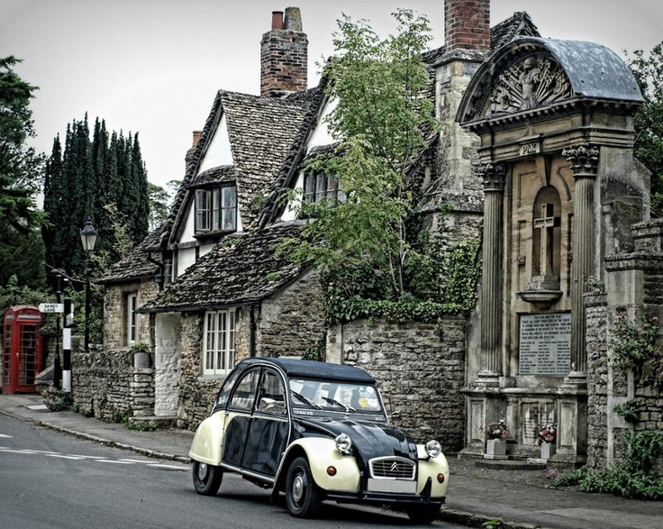 Wiltshire, England  Love the Renault 4. Oh, with the shift in the dash! When I was in college I rode around a lot in one of those!