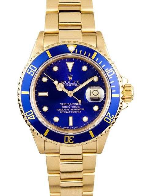 ZAEGER - Rolex Submariner Blue Dial 18k Yellow Gold 16618, (http://www.zaeger.com.au/all-watches/rolex-submariner-blue-dial-18k-yellow-gold-16618/)