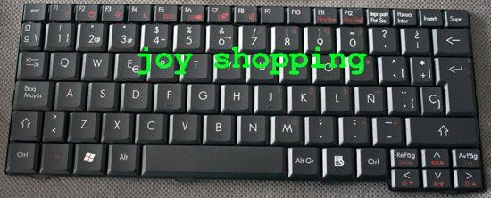 Brand new: ZG5 for Acer Aspire One Series Laptop Keyboard (SP Black) 1pc/lot
