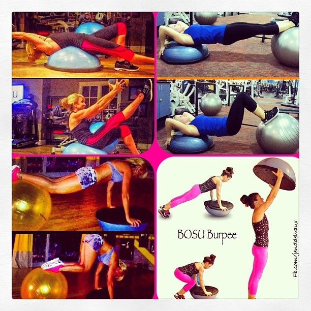 Bosu Ball Benefits: 17 Best Images About Fit: BOSU Routines On Pinterest