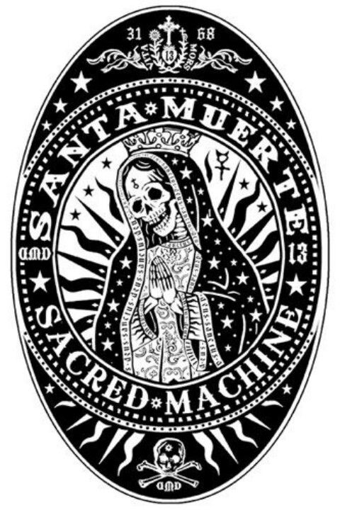 Santa Muerte (OK, not for Her per se, but I like it when people dress Her up in pretties.)