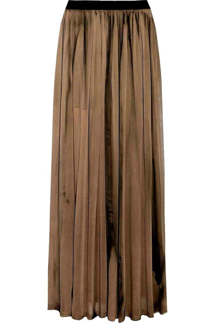 17 beste ideeën over Pleated Chiffon Maxi Skirt op Pinterest ...