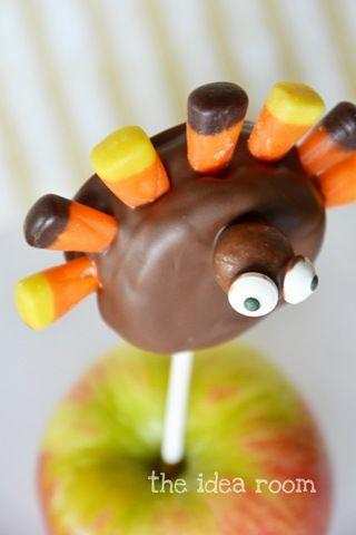 Thanksgiving Turkey Treats—Oreo Pops - The Idea Room