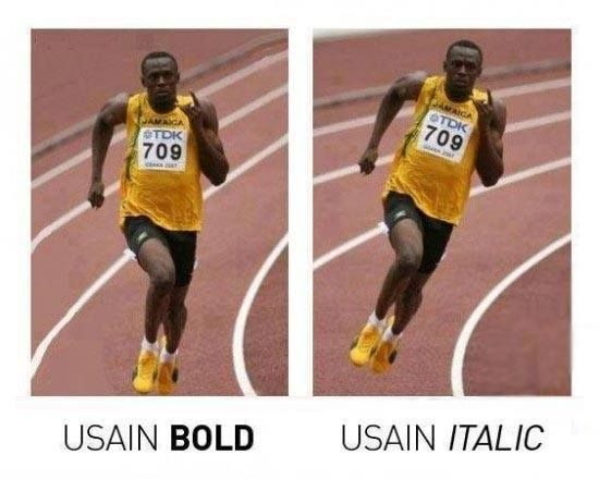 Usain a fast font