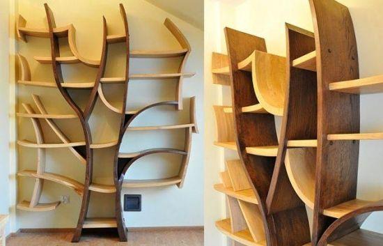 Etajere de perete din lemn in 2 culori