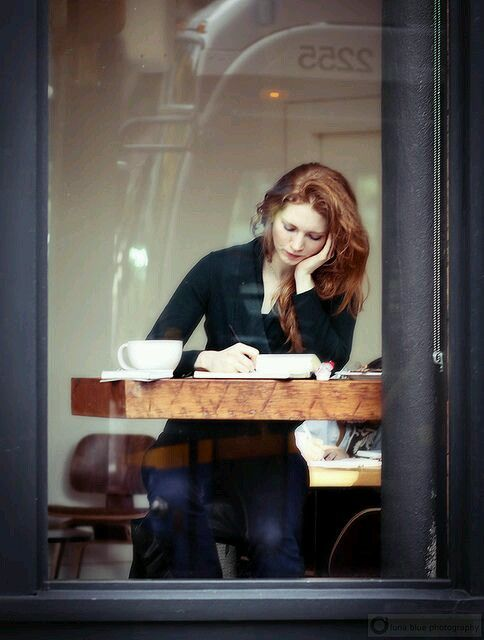 I post this for three reasons…coffee, writing and redheads.