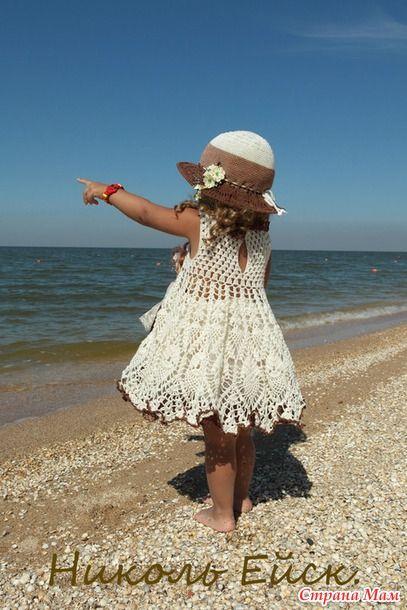 Босоногая малышка (платье, шляпа крючком) - Вязание - Страна Мам