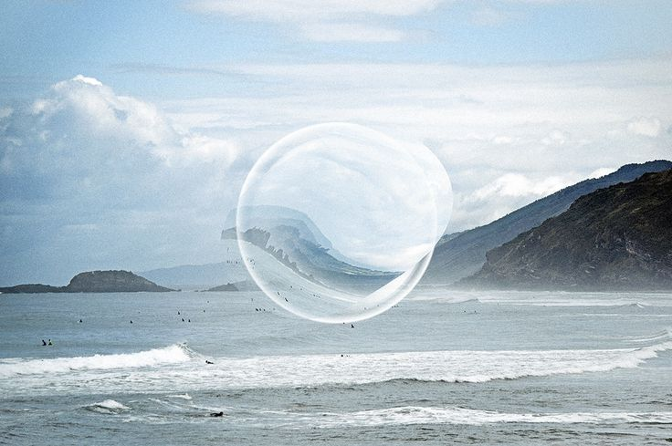 Surreal Circles in Different Landscapes by Auste Stikleryte