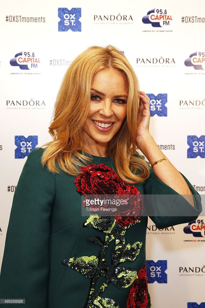 <a gi-track='captionPersonalityLinkClicked' href=/galleries/search?phrase=Kylie+Minogue&family=editorial&specificpeople=201671 ng-click='$event.stopPropagation()'>Kylie Minogue</a> attends The World Famous Oxford Street Christmas Lights Switch On Event taking place at the Pandora Flagship Store on November 1, 2015 in London, England.
