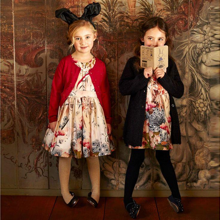 Jottum NWT stunning pink flower fairy print dress Setif All Sizes Winter 2015