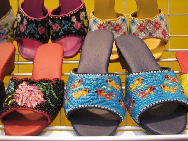 how to make peranakan beaded shoes