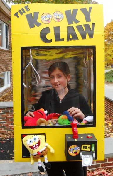 Costume Amazement! The Kooky Claw-if you have a supply of stuffed animals and small toys, this is perfect!!!