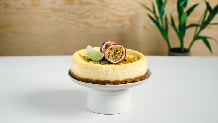 Baked Cheesecake with Passionfruit and Apetina Cream Cheese