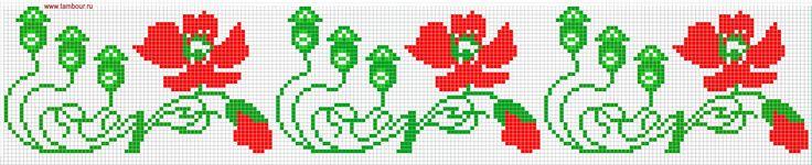 Цветочный орнамент «Маки» - www.tambour.ru