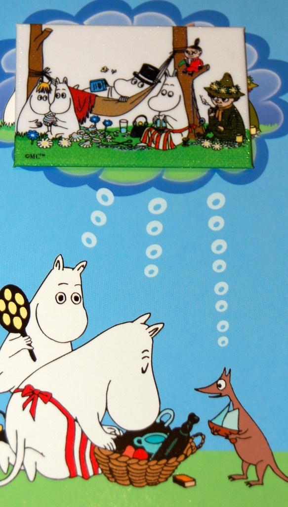 Moomin card - MOOMINMAMMA, MOOMINPAPPA at www.funkylittlepeople.co.uk