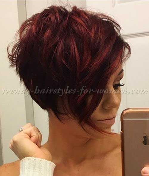 10-Short Hairstyle with Long Bangs