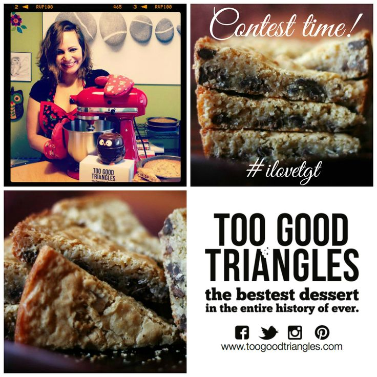 "TGT ""MANDY GOT A MIXER"" CONTEST * Contest closes at 4pm and runs on FB, IG, Pinterest & Twitter. One #free batch of #Classic TGT, #GlutenFree TGT OR #Vegan/#GF TGT is up for grabs. How to enter: Repin this photo with #iloveTGT and a comment and then stay tuned to see if you won! Winner will be announced today (Monday) by 4:30pm. Good luck, #sweetlings! www.toogoodtriangles.com #tgt #toogoodtriangles #contest #dessert"