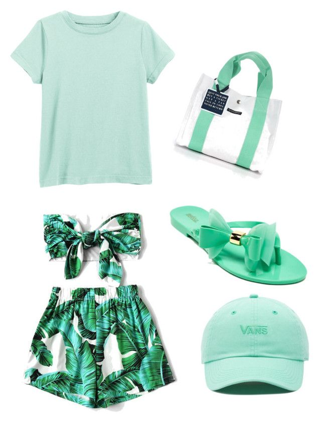 """Cyan perf t"" by onesclanivis on Polyvore featuring WithChic and Vans"