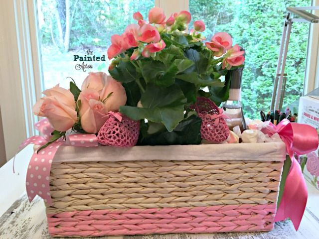 Creations, Baby Shower Basket Centerpiece | The Painted Apron