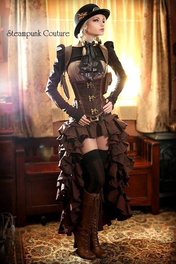 Steam Punk Fashion.. wouldn't wear but LOVE the idea
