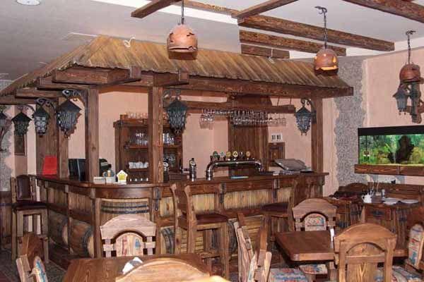 Барная стойка из массива для кафе и ресторанов