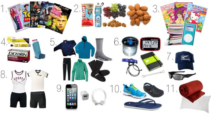 What to pack when traveling to a regatta.