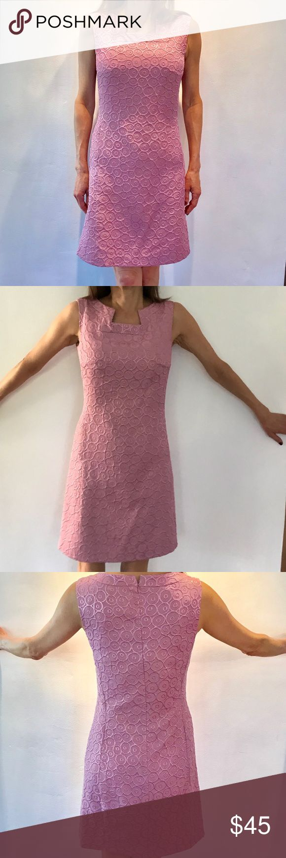 Nine West Salmon Pink Dress Pretty salmon pink color dress. I have got lots of compliments. There are pockets on both side of the dress. This is the dress that never can go wrong! Nine West Dresses Mini