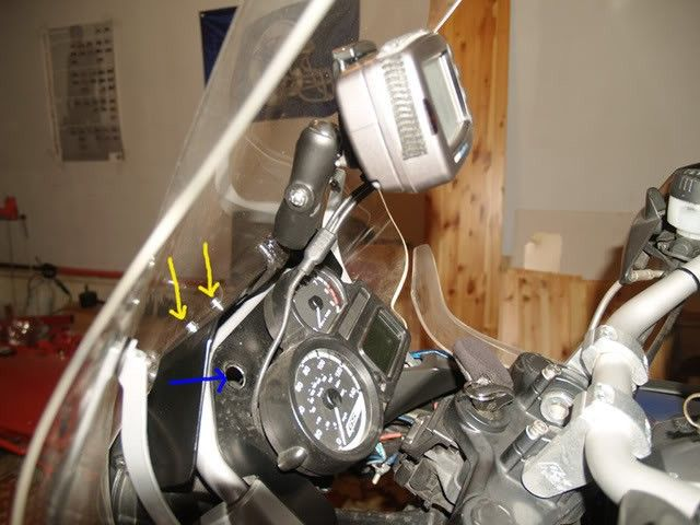 "Motorcycle GPS Mounting Bracket by JimVonBaden -- Homemade motorcycle GPS mounting bracket fashioned from a swivel mount and a 3/8"" thick steel bracket. http://www.homemadetools.net/homemade-motorcycle-gps-mounting-bracket"