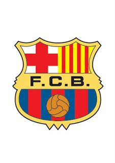 Escudos de futbol para imprimir de barcelona