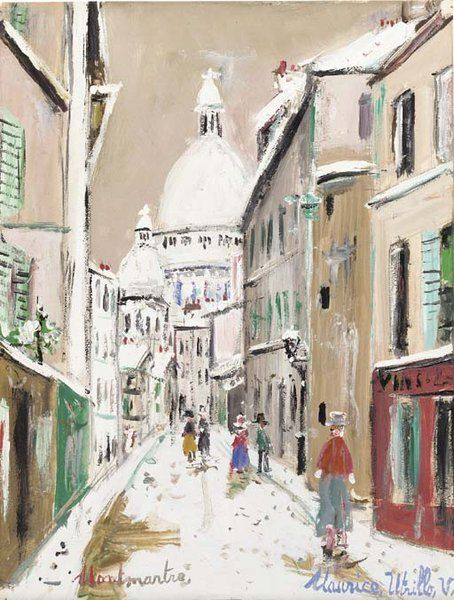 Maurice Utrillo:my father gave me a print of this - whatever happened to it. I loved it , especially as it was a gift from my fab dad