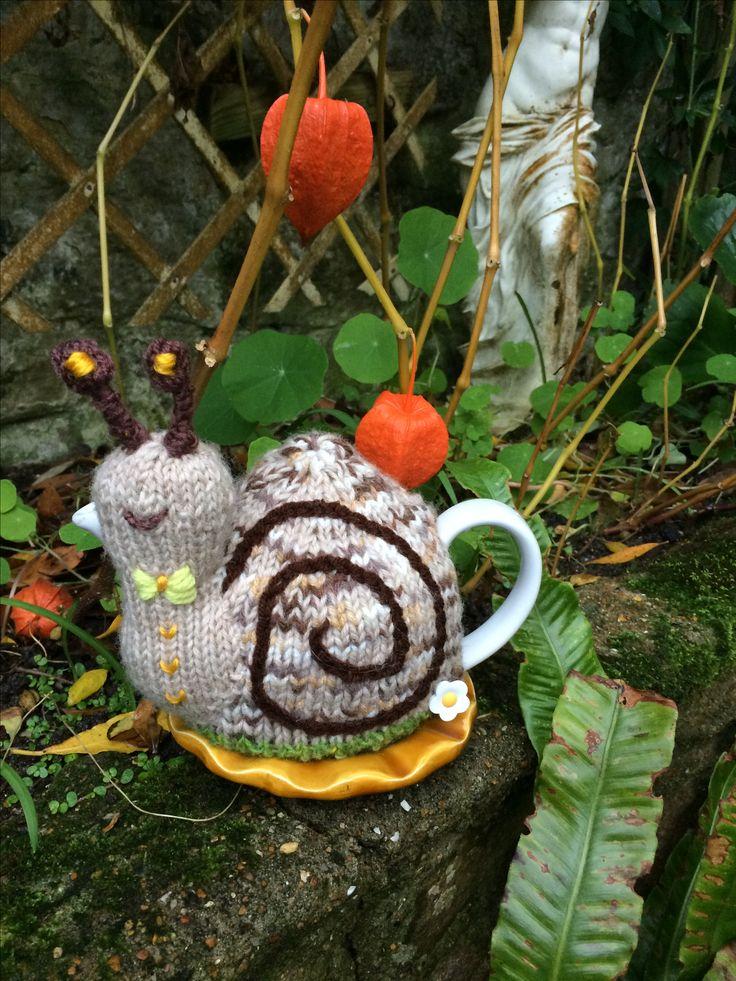 Tiny one cup Snail Tea Cosy