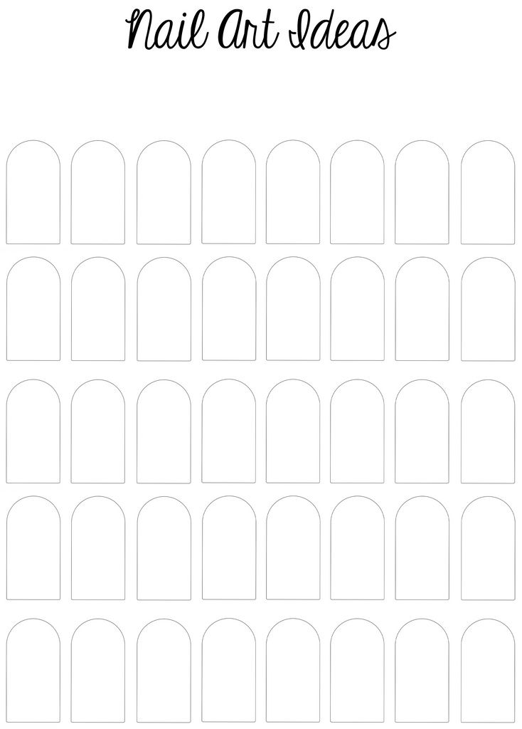 All sizes | Printable Nail Art Template | Flickr - Photo Sharing!