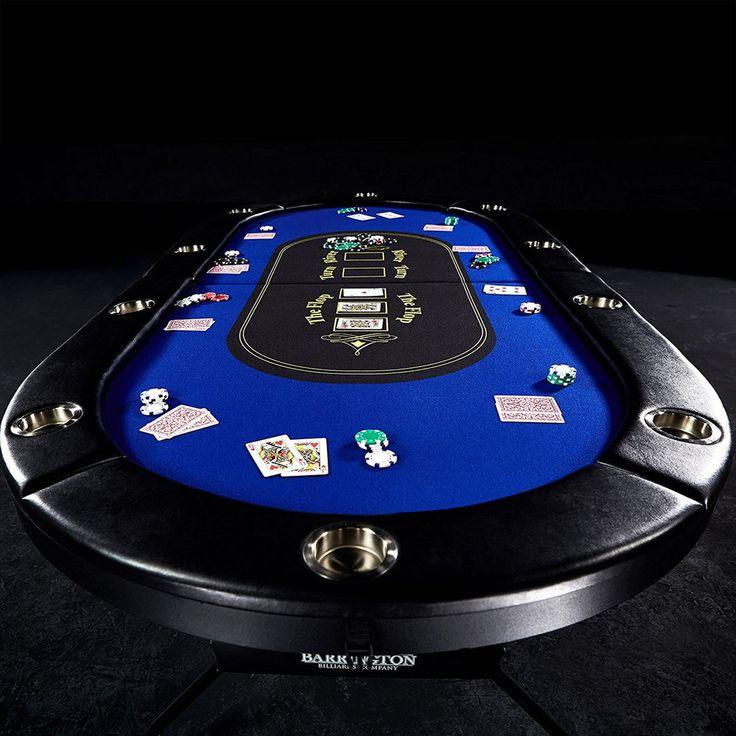Texas Holdem Poker Table 10 Player Folding Blackjack Felt