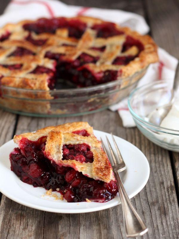 Cranberry Blueberry Pie, completelydelicious.com