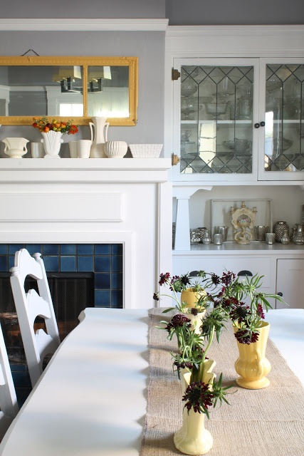 Love The Glass And Built In Dining Hutch Simple Craftsman
