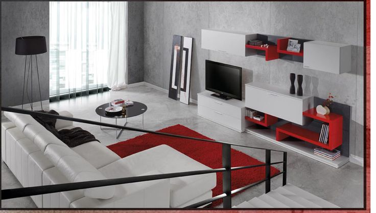 Fotos salon gris y rojo dise o de interiores proyectos - Diseno de salon ...