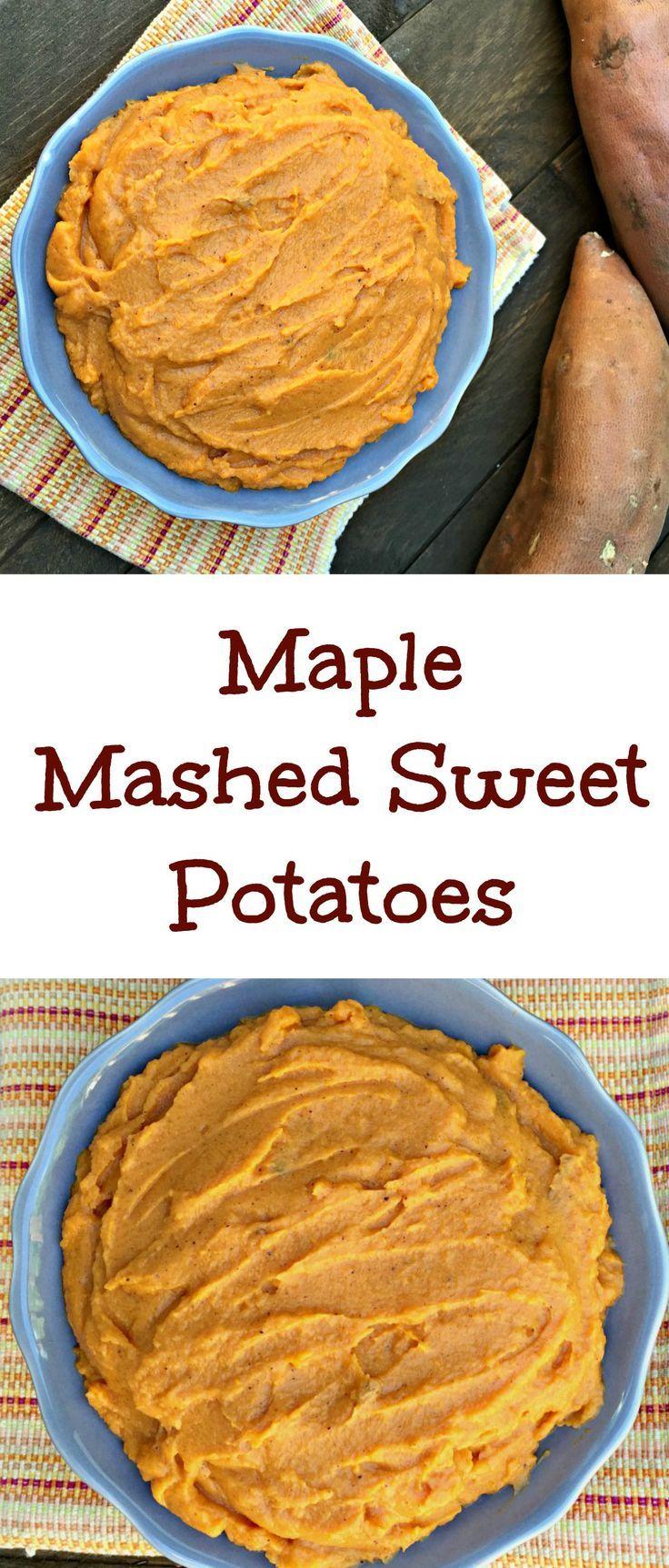 maple mashed sweet potatoes side recipes fall recipes mashed sweet ...