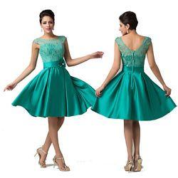 Dama de honor de fiesta vestido de noche vestidos brevemente, festivo, vestido de baile talla 32 34 36 38 40+