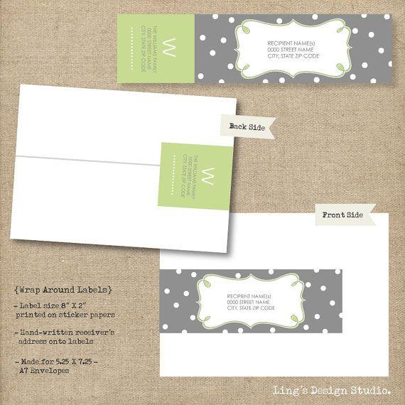 Wrap Around Address Labels - Printable or Prints