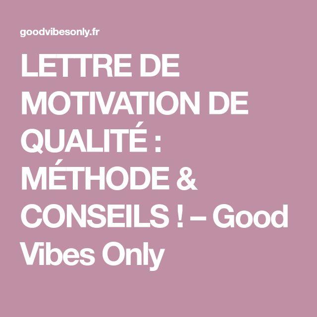 lettre de motivation de qualit u00c9   m u00c9thode  u0026 conseils