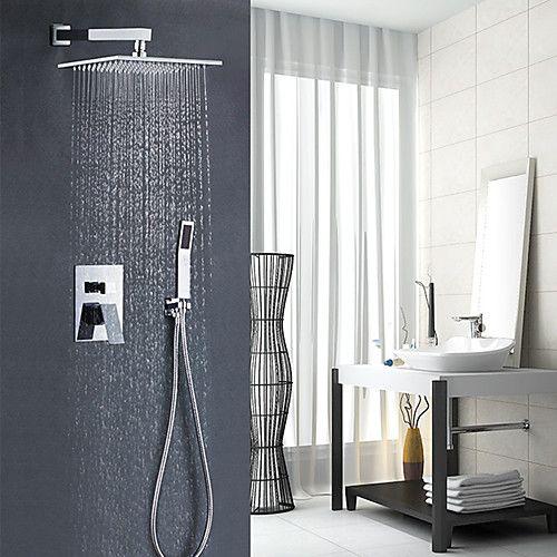 Shower Faucet Contemporary Art Deco Retro Modern Chrome