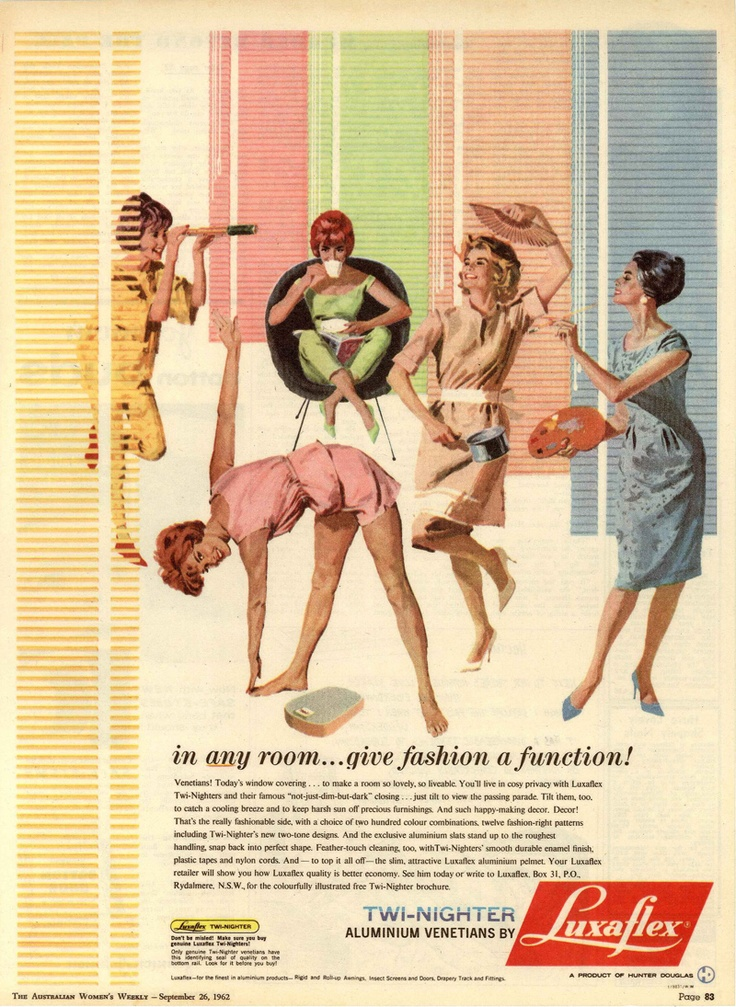 Luxaflex ad from @The Australian Women's Weekly - September 26, 1962