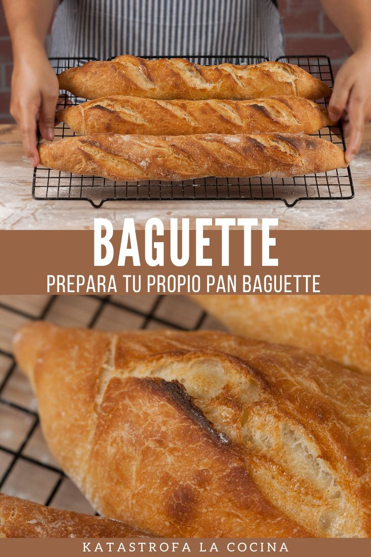 Vamos a hacer barras de pan francés, lo que viene siendo una baguette. Este tipo de barras son perfectas para acompañar cualquier comida e, incluso, para bocadillos.  #Baguette #PanFrancés #pan #horneando #KatastrofaLaCocina #PanFrances #conmigo Baguette, Banana Bread, The Creator, Desserts, Food, 4 Ingredients, Flaky Pastry, Bread Recipes, French Bun