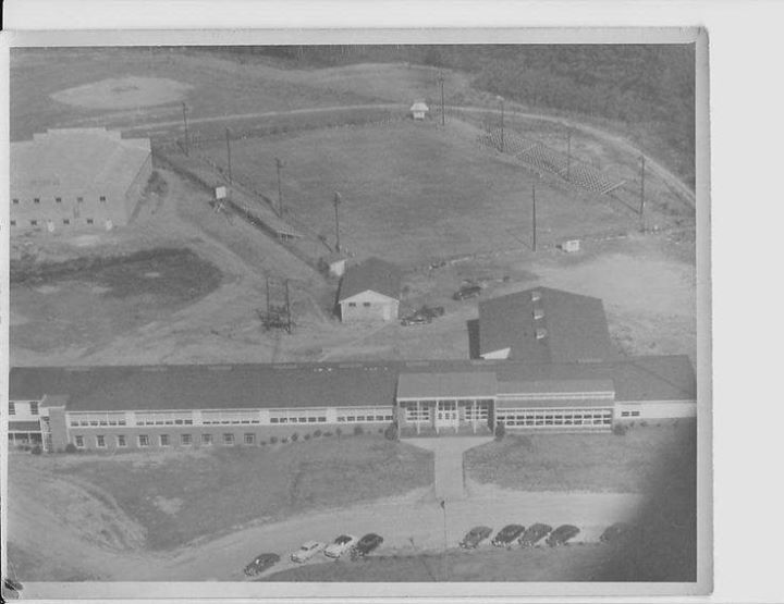Aerial view of the old Arab High School. Some elementary classes in basement. I was in 4th grade here.
